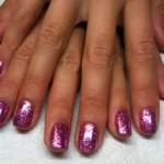 Shellac Rockstar Nails in Purple/Pink