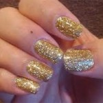 Shellac Rockstar Nails in Gold