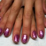 Shellac Rockstar Nails in Purple/Pink